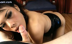 Corrupting shemale gets anal fucked