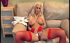 babe with big tits fucked in thigh high stockings