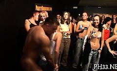 Cheeks in club screwed disrobe dancer