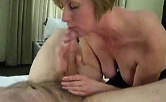 Mature wife made his fat dick cum