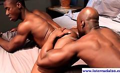 Cock hungry ebony jocks tasting dick