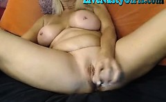 Big Boobed Granny Stretches Her Pussy F