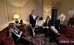 Luscious student beauties getting really naughty