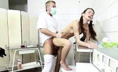 horny gynecologist fucks skinny patient