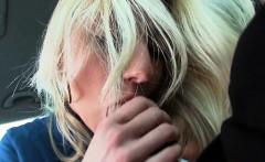Amateur teen nailed by pervert stranger inside his car