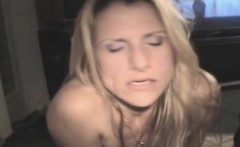 Blonde Amateur Crack Whore Gets Fucked And Takes Cumshot
