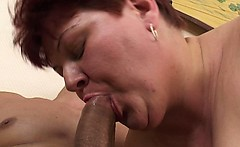 horny mature lady seduces the tv repair man