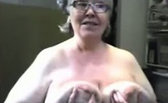 Old granny with big pussy masturbate