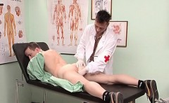 Horny gay is laid on bed doctors