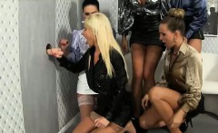 Gloryhole sluts piss on each other