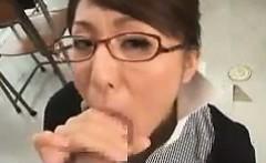 Japanese Teacher Giving A Blowjob POV
