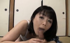 Lusy Japanese mature gives warm blowjob