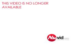 Blonde girl masturbates with black toys on webcam