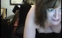 Granny and her big scary boobs on webcam skype