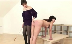 Mature british fetish dame spanks