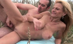 the great outdoors wets grandmas appetite for cock and cum