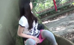Pink underwear teen piss