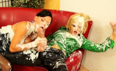 Ema Black and Jenna Lovely cum drenched