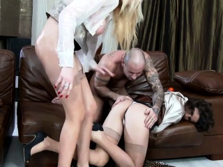 Glam cfnm sluts ass fuck and get fingered