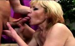 60yo granny gets her snatch pumped by a horny young perv
