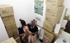 Amateur babe sucking cock for pawn cash