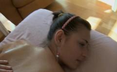 Massaging amazing gal makes her slutty