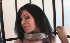 nipples clipping bondage and gagging for busty sex slave