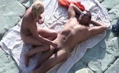 mature couple voyeured on the nude beach