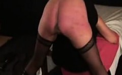 spanking my slave Nina a real soar ass