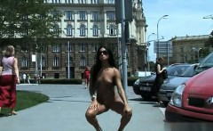 Natural tits extreme public sex