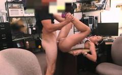 Big boobs latina railed by pawnkeeper in the backroom