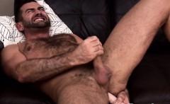 Hairy gay otters solo masturbation fun