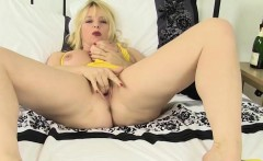 Hot MILF Lucinda Pleases Her Pussy With a Vibrator
