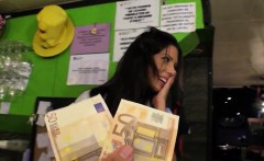 Hot beautiful barmaid Alexa Tomas pussy fucked for money
