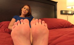 Horny Redhead Has Feet Worshipped and Hairy Pussy Pounded