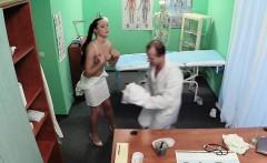 Doctor fucks nurse then patient in his fake hospital