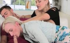 Skylar Green and Angel Allwood facialed after 3some session