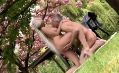 She is a real ash-blonde hotty but he is more interested in