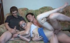 Cuckolding gf gets her little tits cumshot