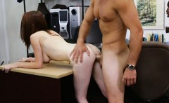 Redhead busty amateur slut pawned her pussy and got fucked