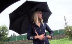 European teen stewardess banged in uniform
