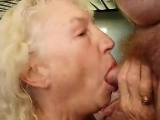Naughty Granny Gives Her Husband A Blowjob