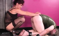 Pony Slave Tit Smothering Pussy Sniffing and HOM