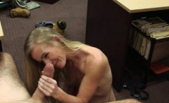 Petite blonde pawns her pussy and fucked by pawnkeeper