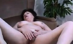 Horny Granny Rubs Her Mature And Wet Pussy