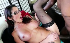 Milf and brunette Dava Foxx gets her pussy destroyed by Lex