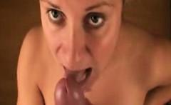 my blonde girlfriend enjoys my cum tsunami