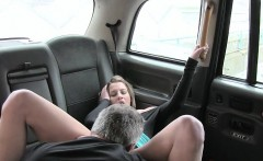 Sexy passenger ass fucked by fake driver to off her fare