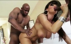 Leggy hottie Bianca Breeze ass ripped by big black meat pole