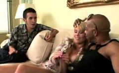 Blondie makes bf watch her sucking a big black cock
